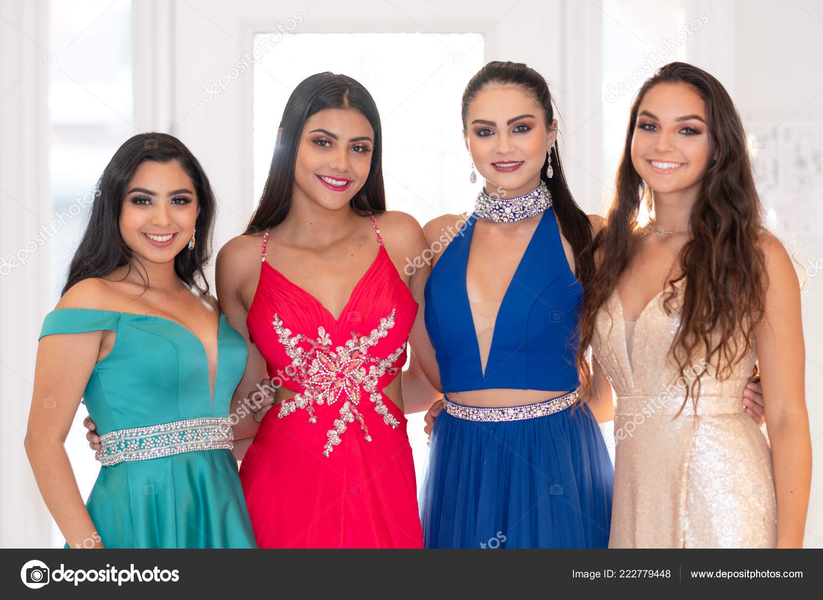 Teen girls going to a prom